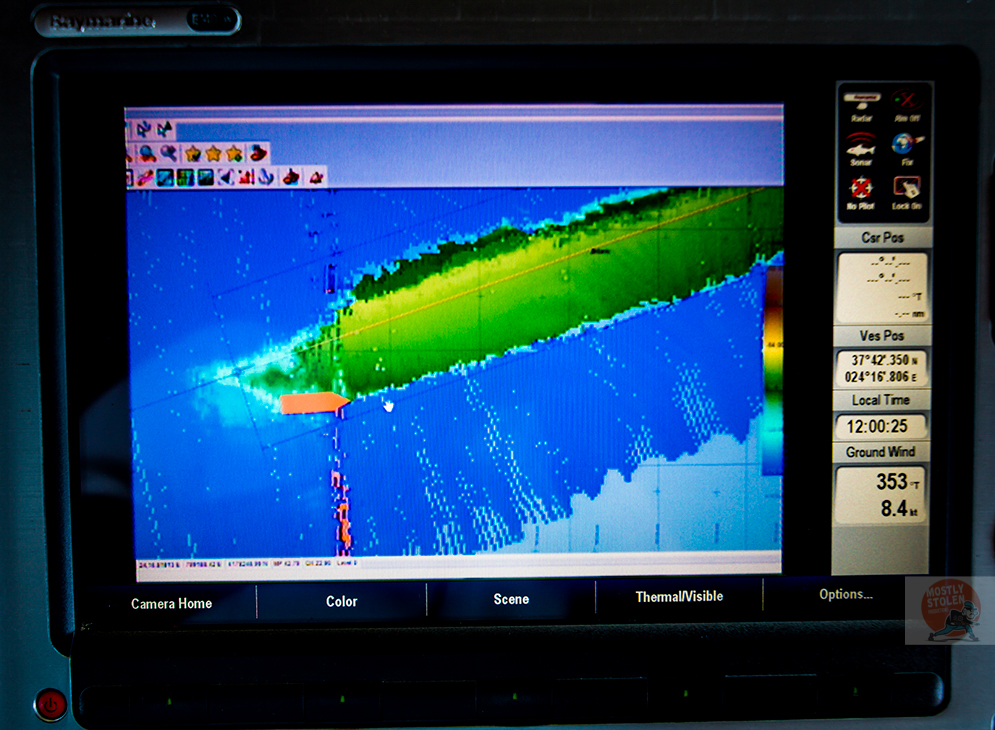 Britannic on sonar