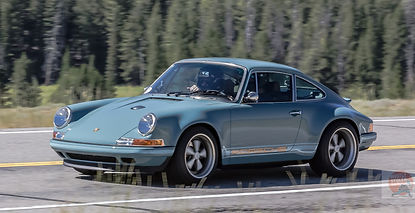 "Classic Porsche 911, ""Reimagined"" by Singer Vehicle Design, hitting 176 mph in the 2016 Sun Valley Road Rally. Copyright David Concannon."