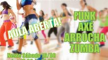 Aula Aberta de Axé, Funk, Arrocha e Zumba na Academia Atitude Poá!