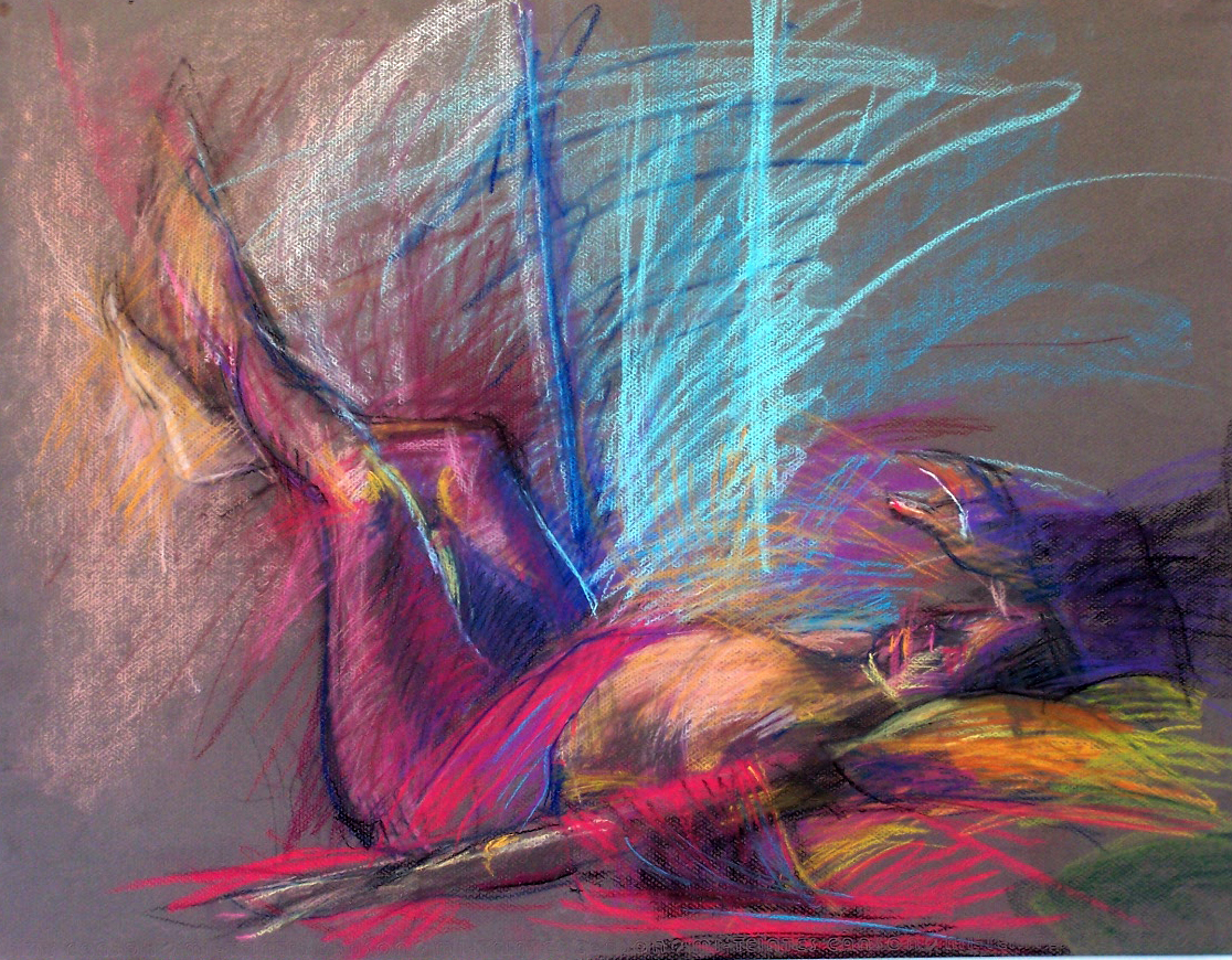figure study Dreamer Pastel on paper