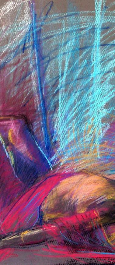 figure study Dreamer Pastel on paper.jpg