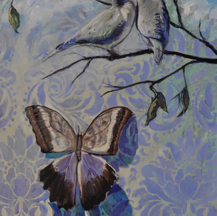 Morning doves with Moth