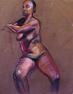 Figure Study Marvins Dancer Pastel on Pa