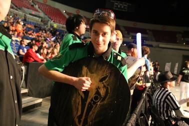 Freshman Thomas with Charger Pride