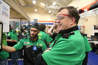 Manpreet and mentor Bigbee-Hansen in the Pits