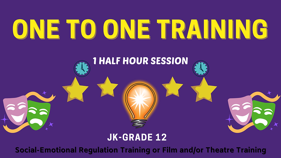 One To One Training Sessions- Half Hour