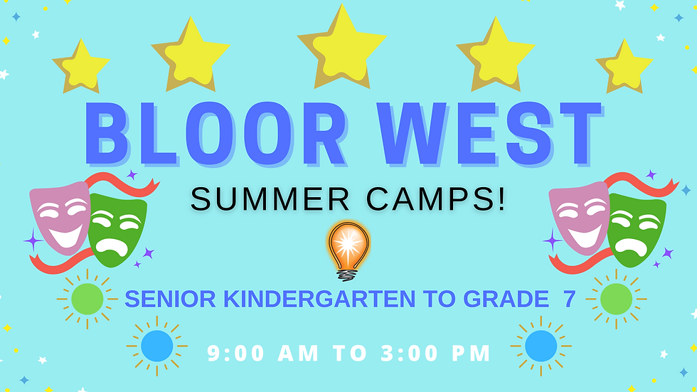 BLOOR WEST FULL DAY- Educational Acting Summer Camps