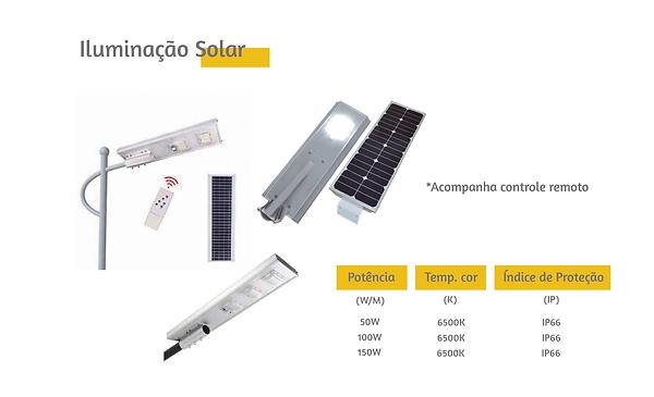 Iluminação Solar. Ótimos preços e condições de pagamento