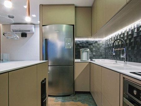 Cozinha pequena e a iluminação ideal