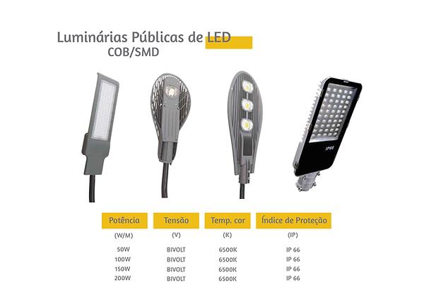 Luminárias Públicas de LED. Ótimos preços e condições de pagamento
