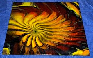 """""""Sunflower on Acid"""" Acrylic on Canvas 16x20"""