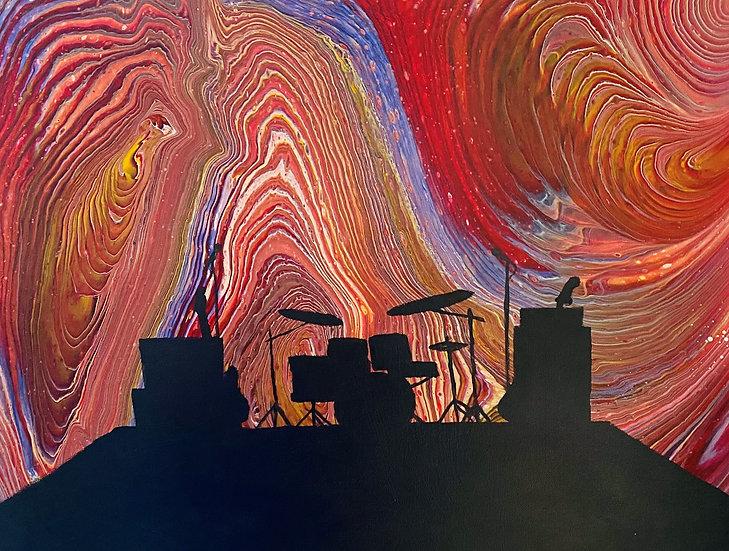 """Deafening Silence"" Original Acrylic on Canvas 16x20"