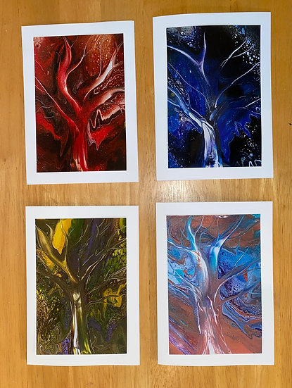 """Artisan Note Cards -""""A Tree for All Seasons"""""""