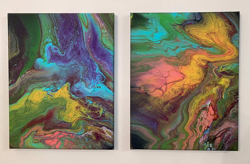 Unnamed Acrylic on Canvas Set - 11x14- Sealed