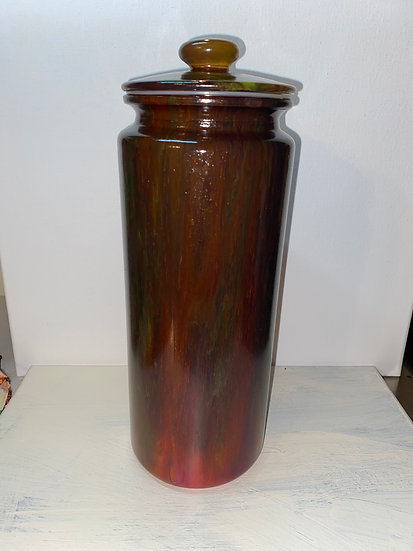 Painted Pasta Jar w/Lid