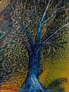Blue Tree 12x16 Acrylic on Canvas