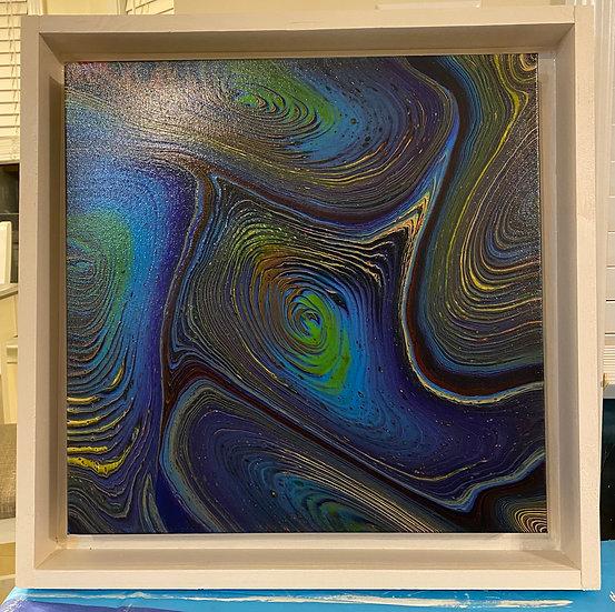 Earth Moves - Acrylic on Canvas 20x20 inch Framed
