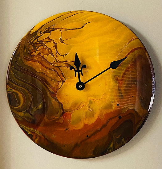 """Wall Clock - """"The Lost Planet"""" Collection - """"Zolea"""" the Molten Planet - 12"""" Viny"""