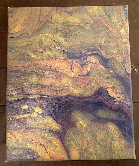 Acrylic on Canvas Dirty Pour - 8x10