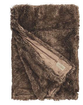 Plaid Winter Création brun