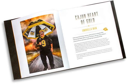 book, coffee table book, saints, fans, football, photography