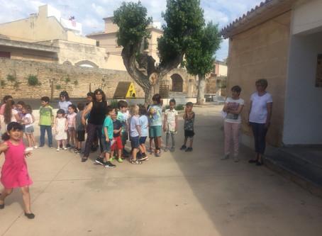 Visita de 6è d'infantil a l'edifici de primària