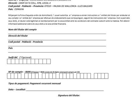 Inscripció a servei de menjador (document)