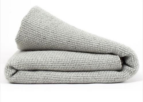 Merino wool grey and aquamarine