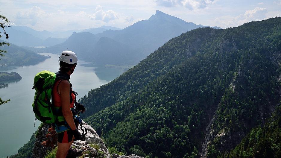 Klettersteig Drachenwand : Anita kaelke drachenwand klettersteig