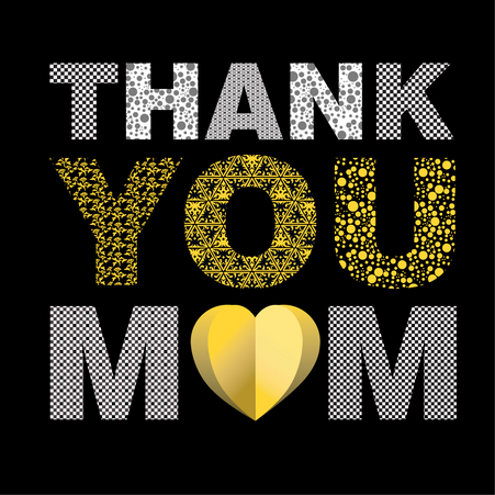 Happy Mother's Day Yellow letters
