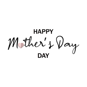 Happy Mother's Day with hearts.