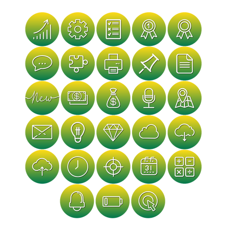 Instagram Highlight Icons, Online Business, Ecommerce in Green color