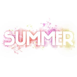 Summer - vector hand lettering summer inspirational label