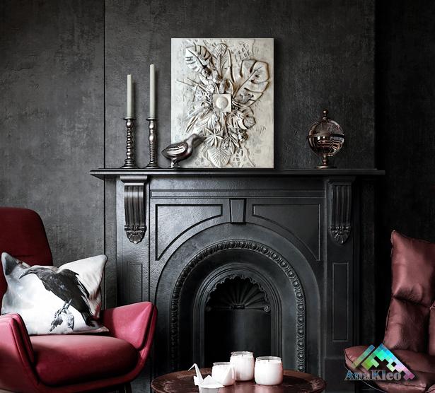 fireplace blossom wall art decor.png