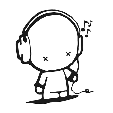 Boy with headset PNG / PDF / EPS