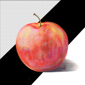 Fresh red apple isolated on transparent background
