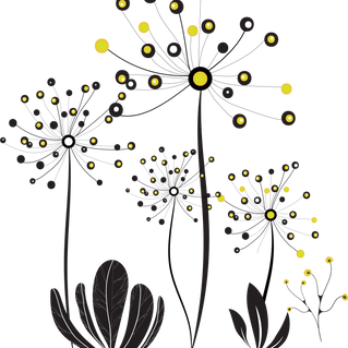 Dandelion. Color vector drawing. Free PNG and PSD