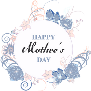 Happy Mother's Day blooming flower elements
