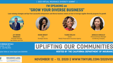 The California Department of Insurance 2020 Virtual Insurance Diversity Summit November 12-13, 2020