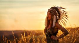 Indian girl sunset standard size.jpg