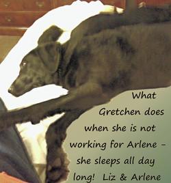 Gretchen off duty-text