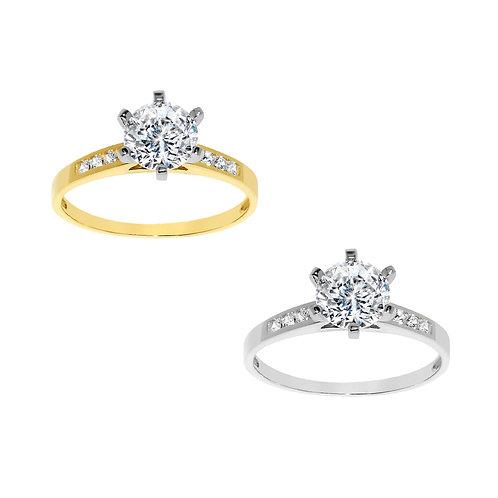 14k Yellow or White Gold 1 1/10ct TGW Round-cut Diamonette Engagement Ring