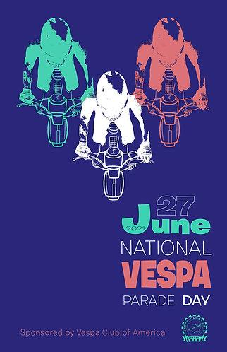 2021 National Vespa Parade Day Poster