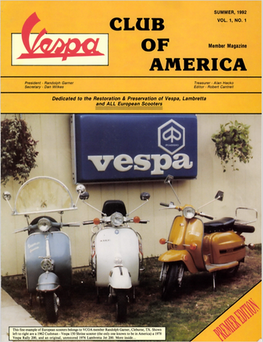 American Scooterist #1 Summer of 92