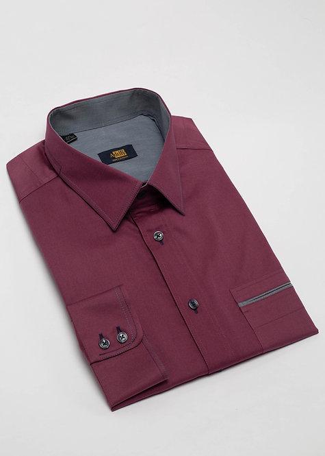Риза с дълъг ръкав  бордо