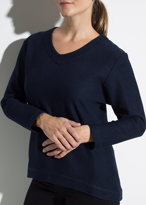 Дамска блуза тъмно синя