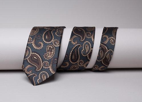 Копринена вратовръзка сивас кафяви пейсли