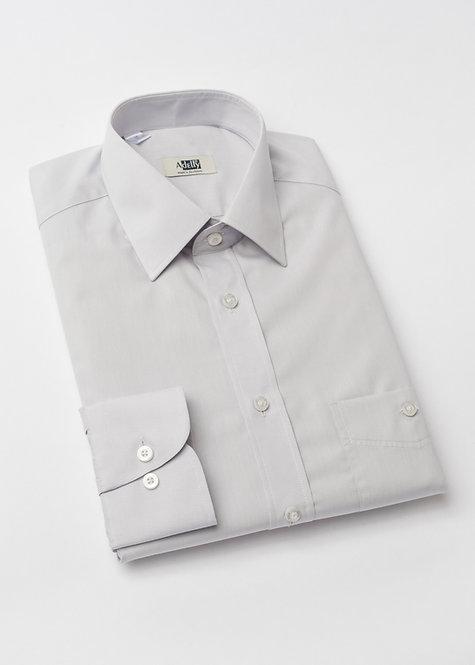 Риза с дълъг ръкав светло сива