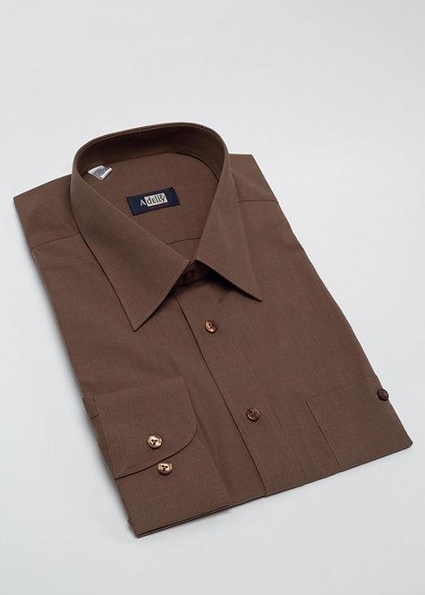 Риза с дълъг ръкав кафява