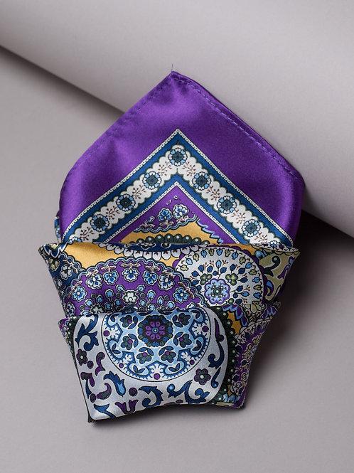 Копринена кърпичка лилава